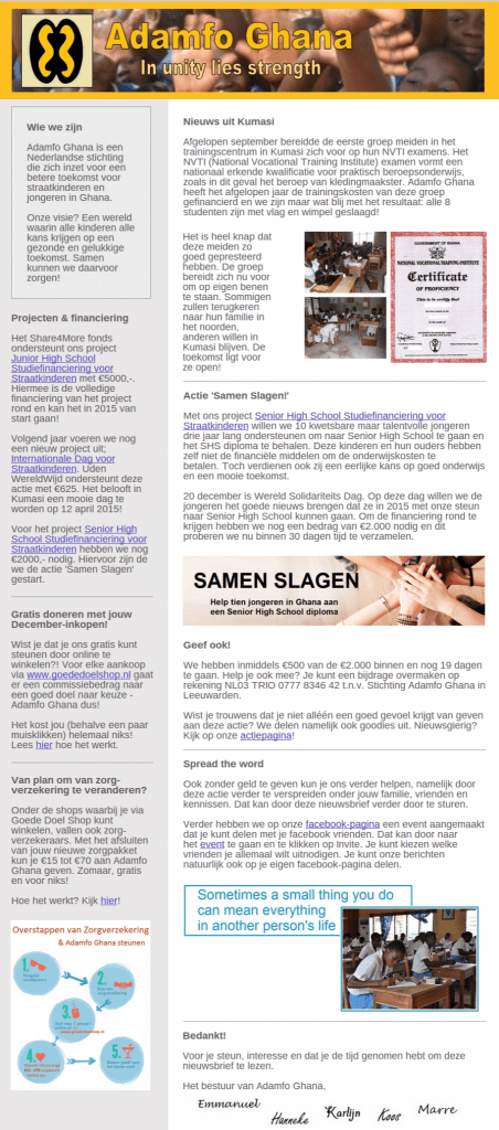 Nieuwsbrief Adamfo 12-2014